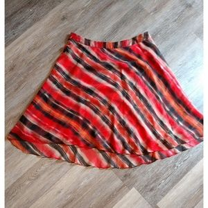 Orange and brown skirt size 16